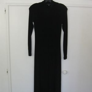 "BCBG long ""stretchy"" dress, jet black, Sz S"